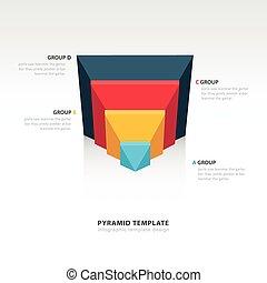 design pyramid infographic template