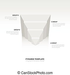 design pyramid infographic template  white color balance