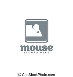 design., rato, ilustração, vetorial, ícone, logo.
