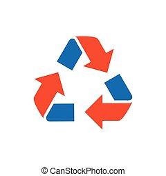 design Refresh Icon blue and orange