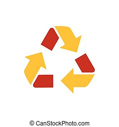 design Refresh Icon yellow and red color