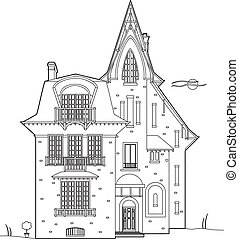 Design remains pretty - Vector illustration of a castle
