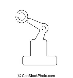 design, roboter, abbildung, ikone