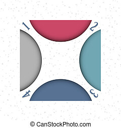 design, schablone, infographics