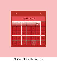Design schedule monthly november 2014 calendar, stock vector