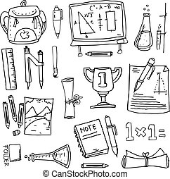 Design school education doodles