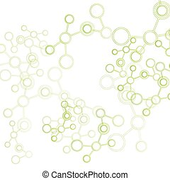 Design science concept. Vector molecule background. Abstract polygonal space background with connecting dots and lines