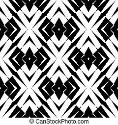 Design seamless diamond pattern. Abstract geometric monochrome background. Vector art. No gradient