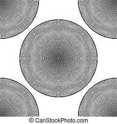 Design seamless monochrome circle background