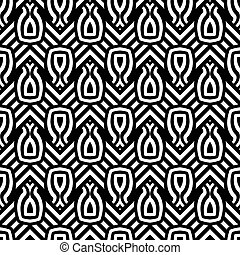Design seamless monochrome geometric pattern. Abstract...