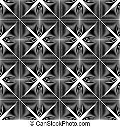 Design seamless monochrome pattern. Abstract lines textured...