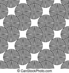 Design seamless monochrome spiral twirl pattern