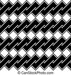 Design seamless monochrome spiral twisted pattern