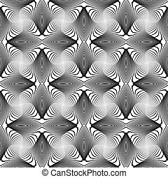 Design seamless monochrome whirl lines background. Abstract...