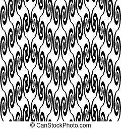 Design seamless monochrome zigzag decorative pattern