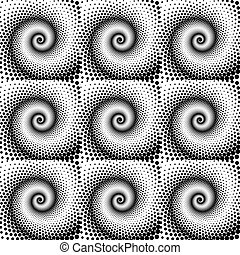 Design seamless spiral dots pattern