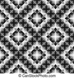 Design seamless square diamond pattern. Abstract geometric...