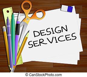 Design Services Shows Graphic Creation 3d Illustration