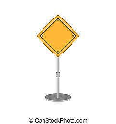 design, sicherheit, straße, gelbes zeichen