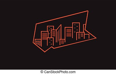 Design silhouette of urban vector art