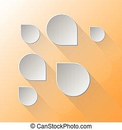 Design speech bubbles on light orange background