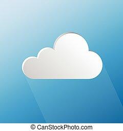 Design speech cloud shape on blue background