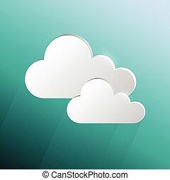 Design speech cloud shape on green blue background