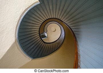 Design spiral staircase, architectural shape