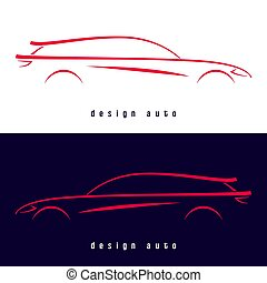 Design sport car silhouette.