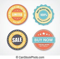 Design stamps for sale in retro style.
