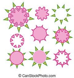 design star Hexagon geometry tattoo
