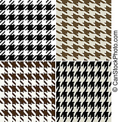 design, stoff, houndstooth