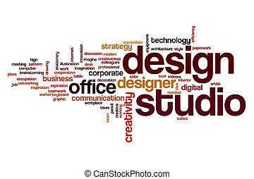Design studio word cloud