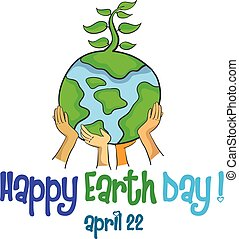 Design style happy earth day