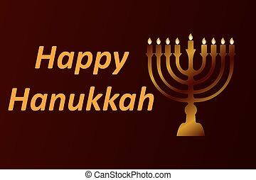 design style Happy Hanukkah logotype, badge and icon...