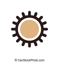 design Sun icon brown color
