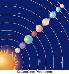design, systém, sluneční