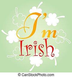 design., t-shirt, patrick's, ouderwetse , straat., heilige, vector, day., stijl, poster, ontwerp, dag, mij, irish., typografisch, lettering, viering, kus, illustration.