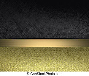 Design template - Black background with gold nameplate.