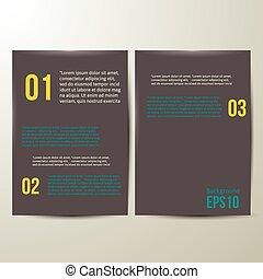 Design Template. black Paper. Vector illustration.