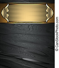 Black texture with gold nameplate and gold trim - Design...