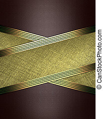 Brown background with crossed ribbons and golden edges