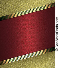 Design template - Gold background with red plate