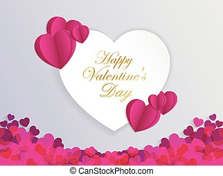 Design Template Heart for Valentine's Day Background