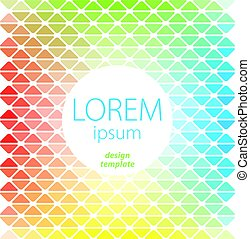 Design Template Lorem Ipsum Poster with elements of seamless...