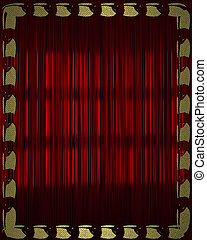 Design template - Red background with gold frame