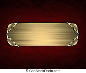 Design template - Red texture with gold name plate with gold...