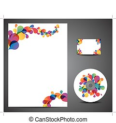 Design template set - business card, cd, paper