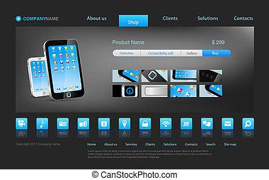 Design template - Website template: online shop