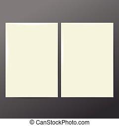 Design Template white Paper